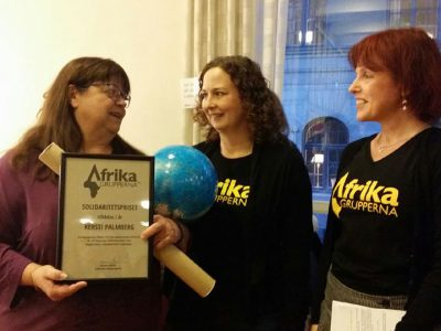 Afrikagrupperna, Solidarity Award, Kersti Palmberg